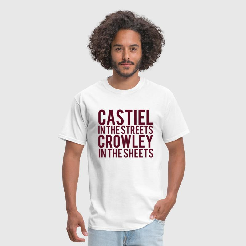 Supernatural castiel in the streets crowley by commodus spreadshirt ccuart Gallery