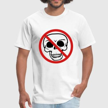 die, forbidden, sign, sign, symbol, crossed, skull - Men's T-Shirt