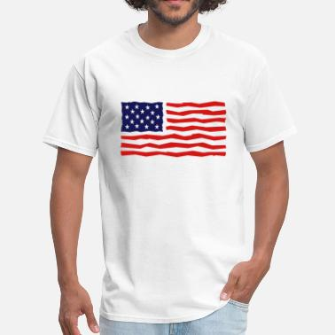 Yankee Statue Of Liberty Stars And Stripes / USA / Flag - Men's T-Shirt