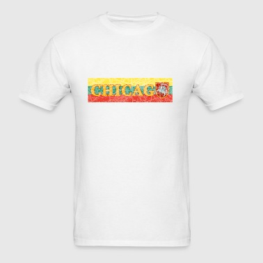 Chicago Lithuanian Lithuania Love Flag  - Men's T-Shirt