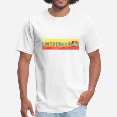 Lithuanian Flag Chicago Lithuanian Lithuania Love Flag  - Men's T-Shirt