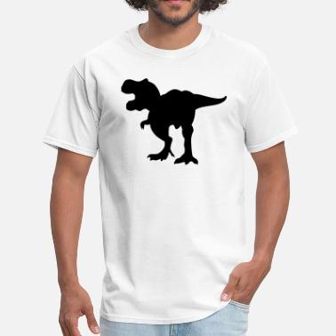 Angry Dinosaur Angry T-Rex Dinosaur Silhouette Rawring - Men's T-Shirt