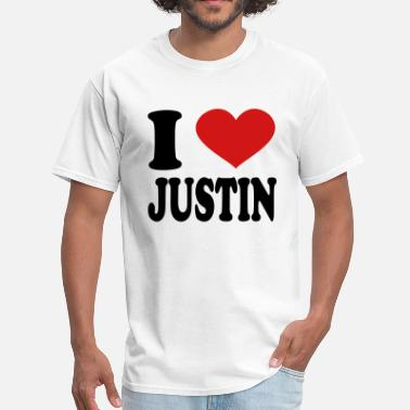 I Love Justin I Love Justin - Men's T-Shirt