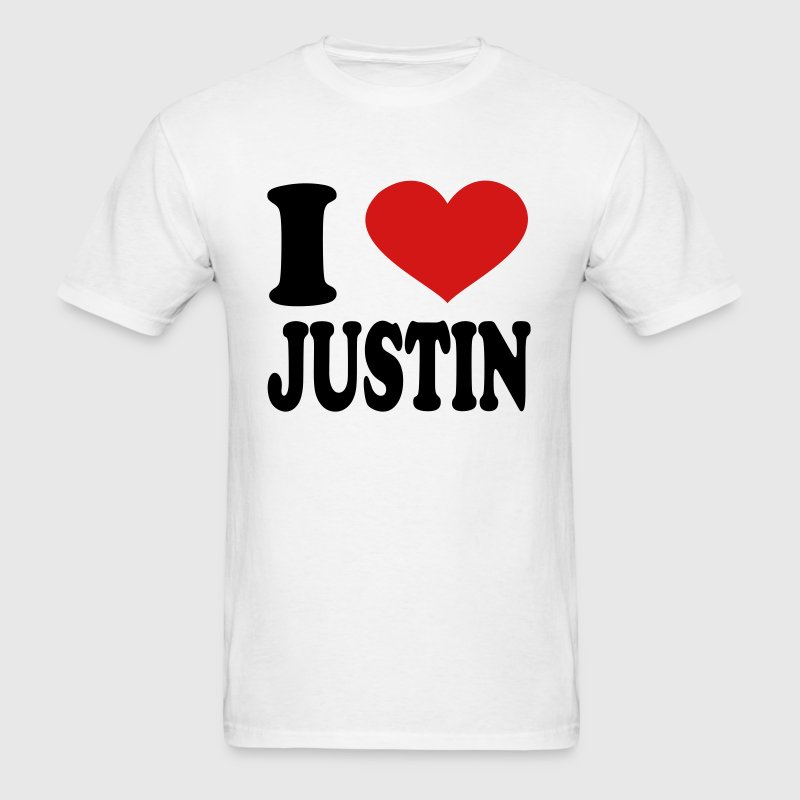I Love Justin - Men's T-Shirt