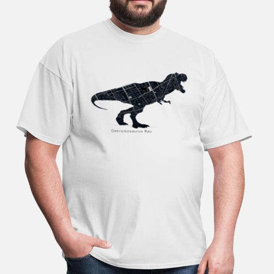 509c084f8 Detroit Basketball Tshirts T-Shirts - Detroit Dinosaur City Map  Tyrannosaurus - Men's T-. Customize