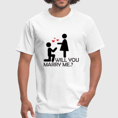 Will You Marry Me - Men's T-Shirt