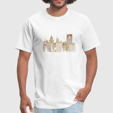 Detroit City I Love This City Detroit Skyline Photo - Men's T-Shirt