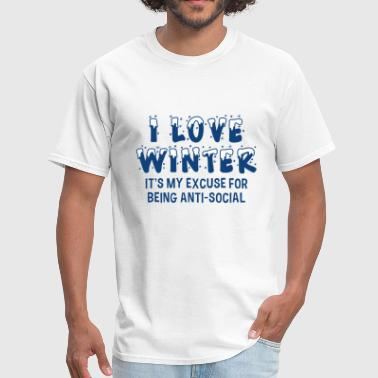 I Love Winter I Love Winter - Men's T-Shirt