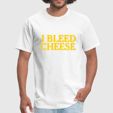 Vintage Wisconsin Funny Packer Cheesehead Bleed Cheese - Men's T-Shirt