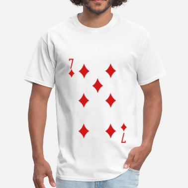 Poker Cards Seven of Diamonds - Men's T-Shirt