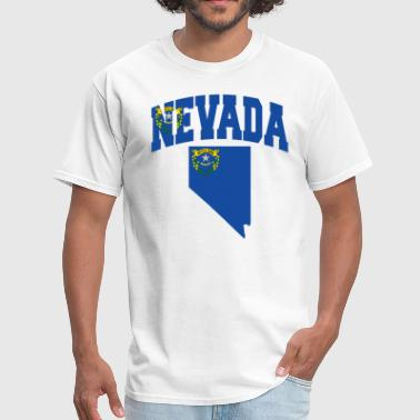 Nevada Map Flag - Men's T-Shirt