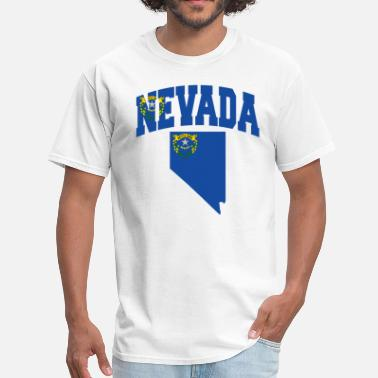 State Of Nevada Map Nevada Map Flag - Men's T-Shirt