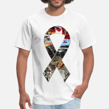 Canada Veteran Ribbon Collage - Men's T-Shirt
