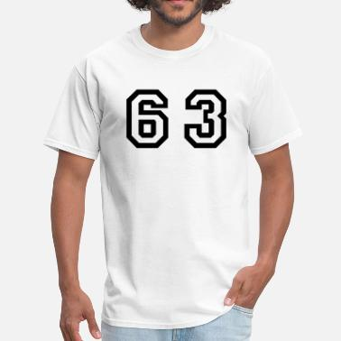 Number 63 Number - 63 - Sixty Three - Men's T-Shirt