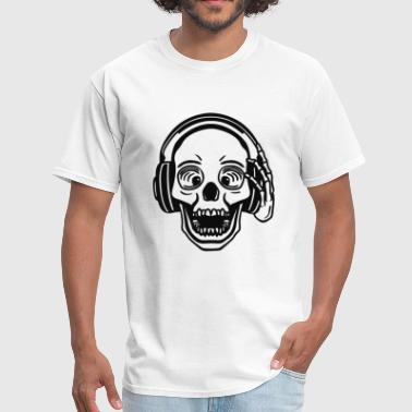 Will Dj For Food Dj Skull - Men's T-Shirt