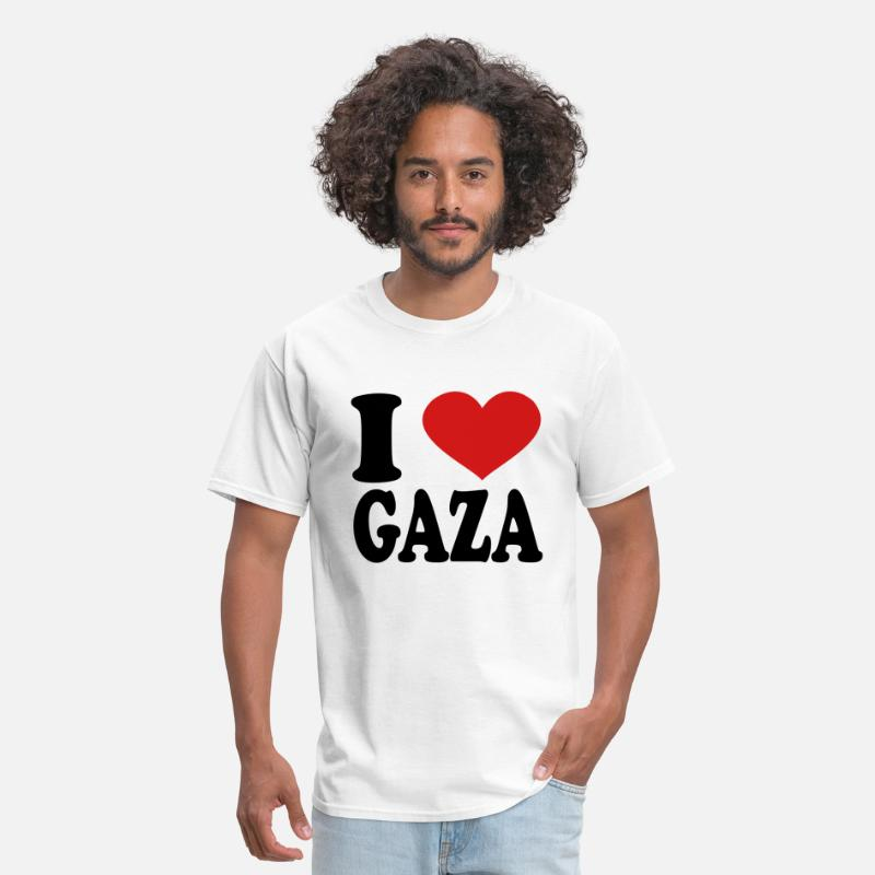 T-Shirts - I Love Gaza - Men's T-Shirt white