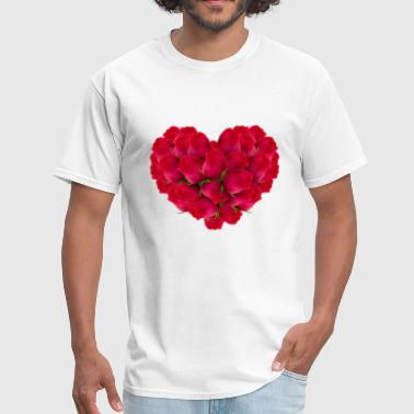 50 Mothers Day valentines day heart 50 - Men's T-Shirt