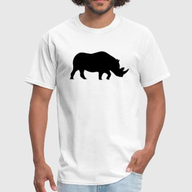 Rhino Silhouette - Men's T-Shirt