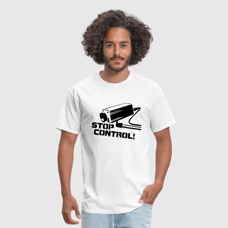 STOP CONTROL! (Camera Surveillance Police State) - Men's T-Shirt