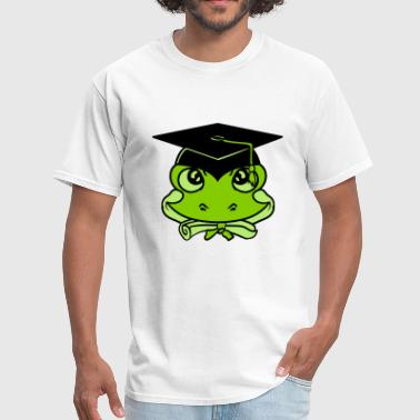 face head college graduation high school graduatio - Men's T-Shirt