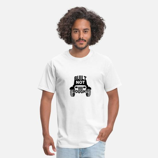 Jeep T-Shirts - Built NOT Bought - YJ Square Lights - Men's T-Shirt white