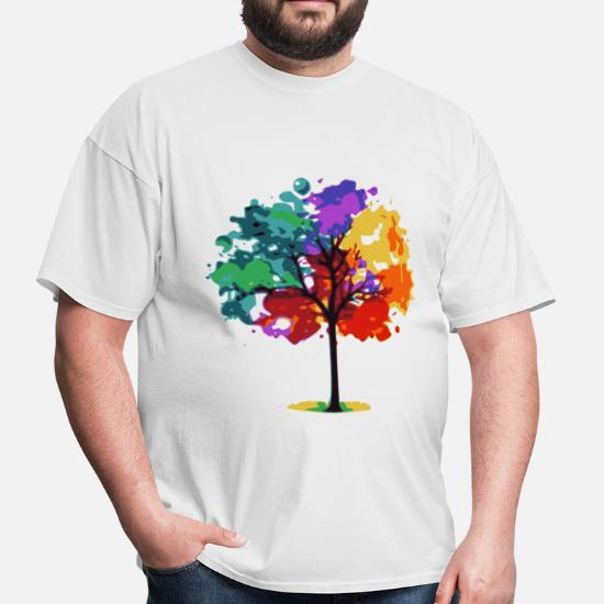 baf33795 Front. Back. Back. Design. Front. Front. Back. Design. Front. Front. Back.  Back. Tree T-Shirts - Color Tree - Men's ...