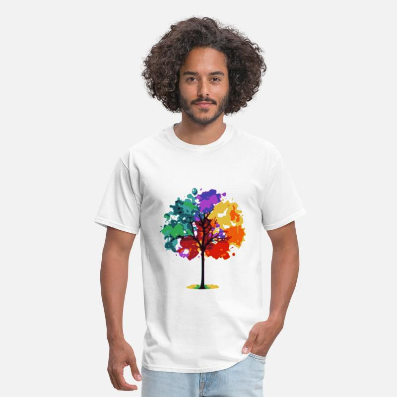 Nature Collection T-Shirts - Color Tree - Men's T-Shirt white