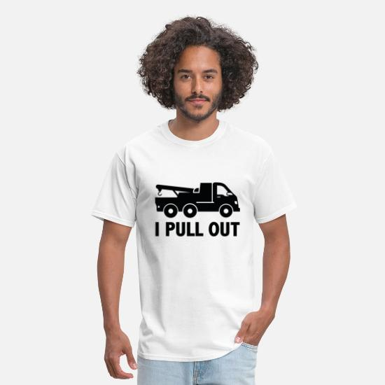 Dirty T-Shirts - I Pull Out - Men's T-Shirt white