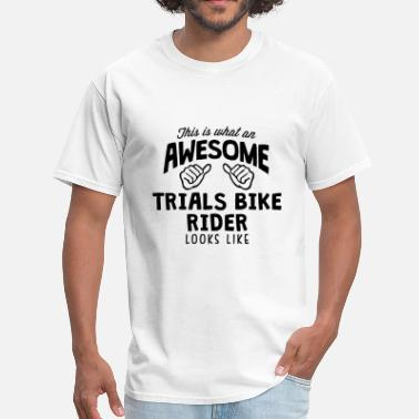 Trials awesome trials bike rider looks like - Men's T-Shirt