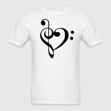 I heart music - Men's T-Shirt