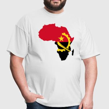 Angola Flag Africa Map - Men's T-Shirt