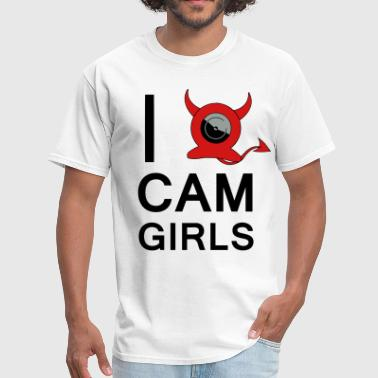I HEART CAM GIRLS - Men's T-Shirt