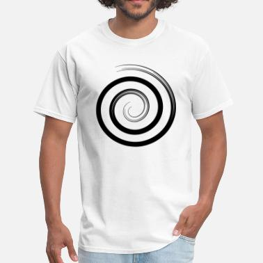 Lighter Snail spiral - black - Men's T-Shirt