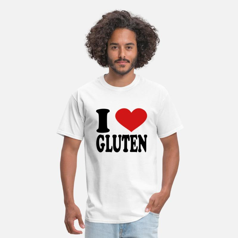 T-Shirts - I Love Gluten - Men's T-Shirt white