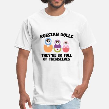 Cyrillic Russian Dolls - Men's T-Shirt