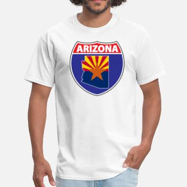 Arizona Flag Arizona Flag Highway - Men's T-Shirt