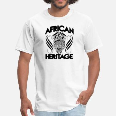 African Mask Art Design African Heritage With Map - Men's T-Shirt
