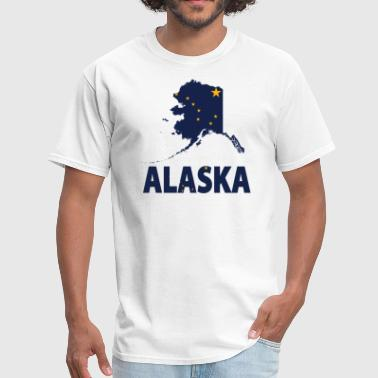 Alaska Flag Alaska Map - Men's T-Shirt