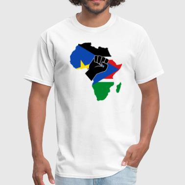 I Love South Africa SOUTH SUDAN FLAG - Men's T-Shirt