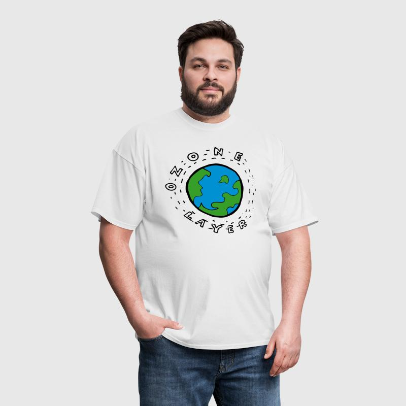 Earth's Ozone Layer Diagram for Kids - Men's T-Shirt