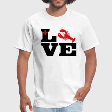Love Louisiana I Love Crawfish - Red - Men's T-Shirt