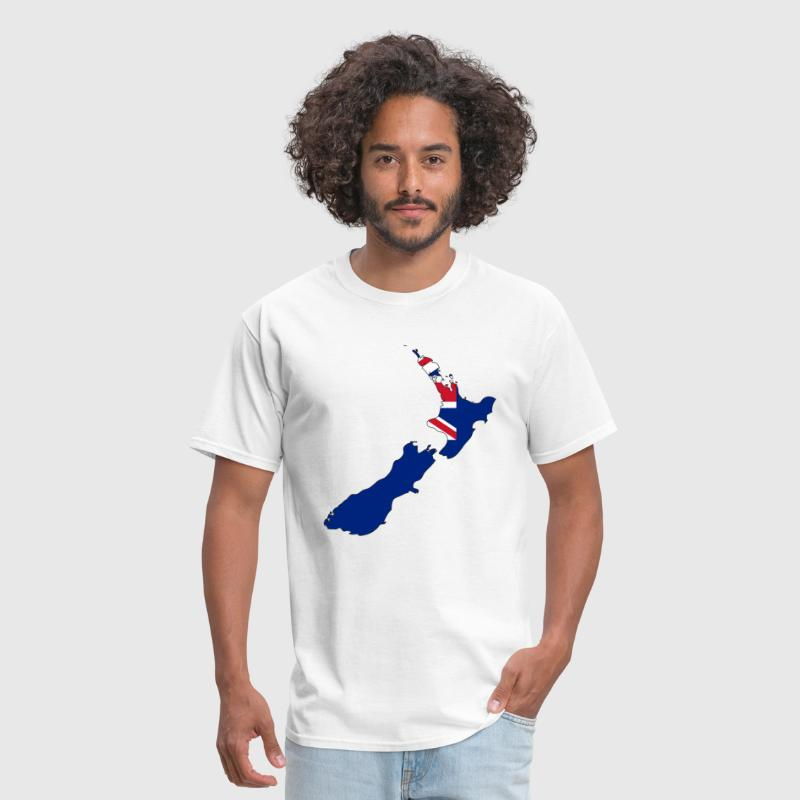 New Zealand Flag Map.png - Men's T-Shirt