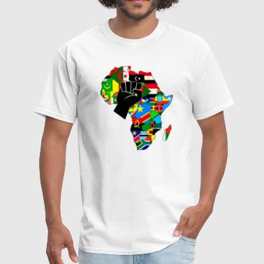 Fists Power Africa map raised fist - Men's T-Shirt