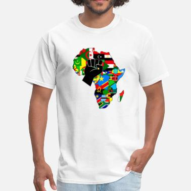 Black Pride Africa map raised fist - Men's T-Shirt