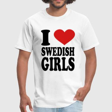 Swedish I Love Swedish girls - Men's T-Shirt