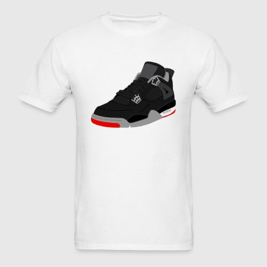 jordan 4 bred - Men's T-Shirt