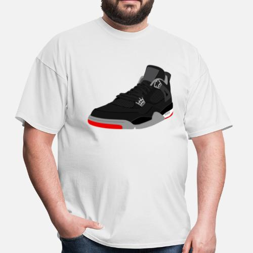 eb783f52712096 jordan 4 bred Men s T-Shirt