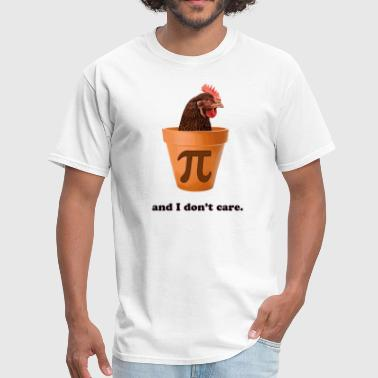 Math Pi Chicken Pot Pi (and I don't care) - Men's T-Shirt