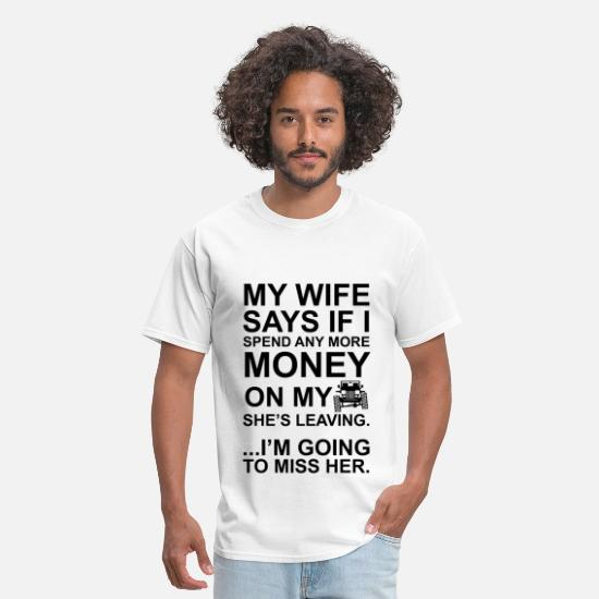 Surfing T-Shirts - Jeep Wife Going to Miss Her - Men's T-Shirt white
