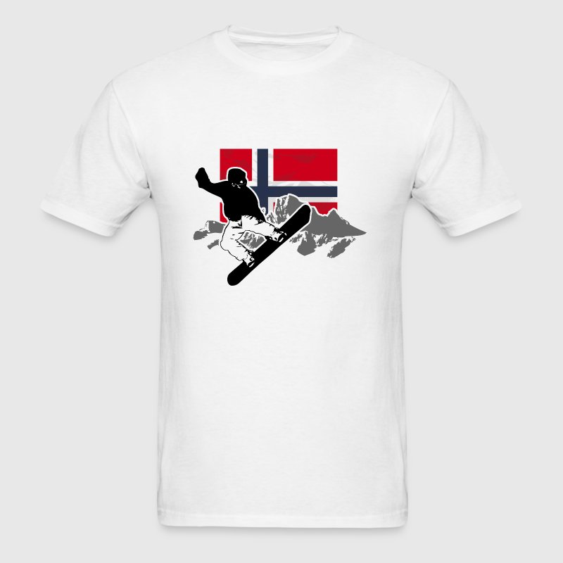 Snowboarding - Norway Flag - Men's T-Shirt